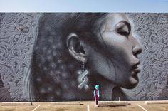 """Nuestra Gente"", a new mural by El Mac in Phoenix, Arizona"