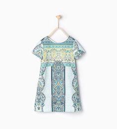 Bild 3 von Bedrucktes Kaschmir-Kleid von Zara