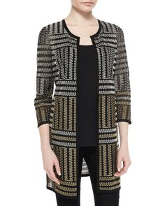 Excursion Long Zigzag Embroidered Jacket, Petite, Size: PS (4-6P), Multi - NIC ZOE