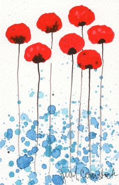 Buy 2 Get 1 FREE - Watercolor Painting: Watercolor Flowers - Art Print - Bright and .- Kaufen 2 Get 1 FREE–Aquarell malen: Aquarell Blumen–Kunstdruck–Bright und son… Buy 2 Get 1 FREE – Watercolor Painting: Watercolor … - Art Floral, Illustration Blume, Inspiration Art, Red Flowers, Red Poppies, Poppies Art, Watercolor Poppies, Watercolor Water, Simple Watercolor Flowers