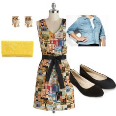 """""""modcloth dress"""" by silverwindow on Polyvore"""