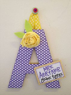 Super-Duper Embellished Letters: cute & custom made for weddings teachers holidays birthdays gifts