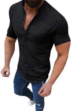 Bekleidung, Herren, Tops, T-Shirts & Hemden, T-Shirts Shirts & Tops, Casual Shirts For Men, Men Casual, Mens Shirts Sale, Mens Tee Shirts, Top Mode, Streetwear, Loose Shorts, Loose Tops