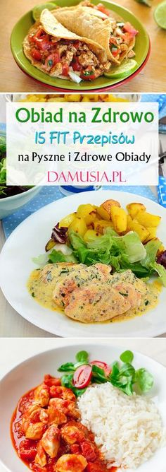 Obiad na Zdrowo: 15 FIT Przepisów na Zdrowy Obiad Lunch Recipes, Diet Recipes, Cooking Recipes, Healthy Recipes, Healthy Food, Going Vegetarian, Vegetarian Recipes, Easy, Food Porn