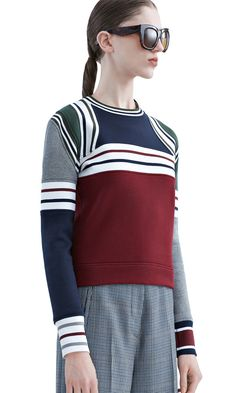 Rosana shrunken sweatshirt with ribbed accents #AcneStudios #PF15