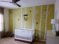 Love this wall. Don't see why it needs to go in a nursery.