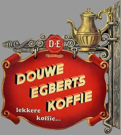 "Douwe Egberts (often abbreviated as DE) is a Dutch corporation that processes and trades coffee, tea, and other groceries. Its full name is Douwe Egberts Koninklijke Tabaksfabriek-Koffiebranderijen-Theehandel NV, which translates as ""Douwe Egberts Royal Tobacco Factory - Coffee Roasters - Tea Traders, Plc."". 1753 - Egbert Douwes starts a grocery shop in Joure, called De Witte Os (""the White Ox"")."