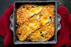 Kale Mushroom Cheddar Bake on Simply Recipes