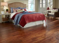 Looking for that comfy feel under your feet? Get it with a handscraped floor like Golden Teak Acacia!