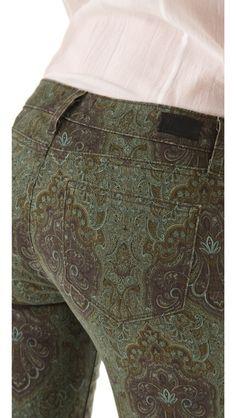 Paige Denim Paisley Verdugo Ultra Skinny Jeans