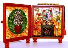 """""""Blessings of Love"""", a love and relationship altar box by Chaska Peacock"""