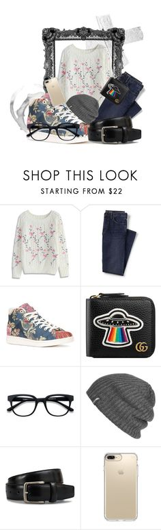 """""""floral prince"""" by rcgional ❤ liked on Polyvore featuring Chicwish, Lands' End, adidas, Gucci, Outdoor Research, Tod's, Speck, men's fashion and menswear"""