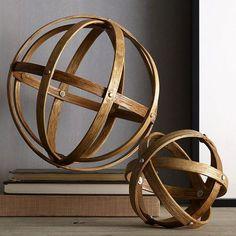 Rebecca Quandt Interior Design   $3 DIY Sphere Sculpture in 15 Minutes