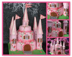 Inspiring princess cakes for a royal princess party! Cute birthday cake ideas for girl birthday party theme or the princess in your life. Princess Birthday, Princess Party, Girl Birthday, Birthday Parties, Princess Castle, Princess Cakes, Royal Princess, Birthday Ideas, Pink Castle