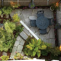 Article about creating an urban garden in a small lot.  Great tips.  I love the small nooks.