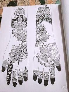 Arabic Mehndi Designs Brides, Beginner Henna Designs, Simple Arabic Mehndi Designs, Mehndi Designs 2018, Mehndi Design Pictures, Dulhan Mehndi Designs, Beautiful Henna Designs, Mehndi Designs For Hands, Bridal Mehndi Designs