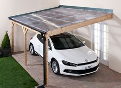 Roof sheets in use - Carport