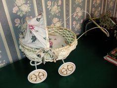 Doll stroller basket of bread