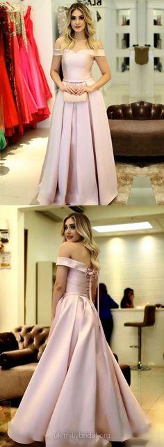 Long Prom Dresses, Princesses Prom Dresses for Teens, Off-the-shoulder Formal Dresses Cheap, Modest Graduation Dresses for Teens