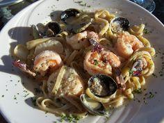 Seafood Fettuccine At Olde Port Inn Pismo Beach Restaurants Coast Restaurant Recipes