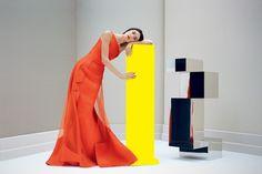 Carolina Herrera spring/summer 2013 ad campaign starring Jacquelyn Jablonski.