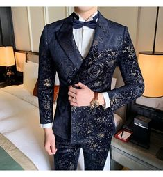 men's suits – High Fashion For Men Floral Suit Men, Mens Floral Blazer, Men Blazer, Prom Blazers For Men, Blazers For Men Casual, Trendy Suits For Men, Blue Tuxedo Jacket, Dinner Suit, Designer Suits For Men