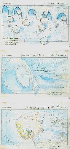 Film: Spirited Away (千と千尋の神隠し) ===== Layout Design - Scene: The Job Of The Soot Sprites ===== Hayao Miyazaki