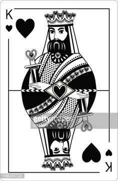 King of hearts. Playing card.