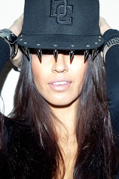 Bad Ass DG studded hat: rock emo heavy metal goth hip hop music band clothes