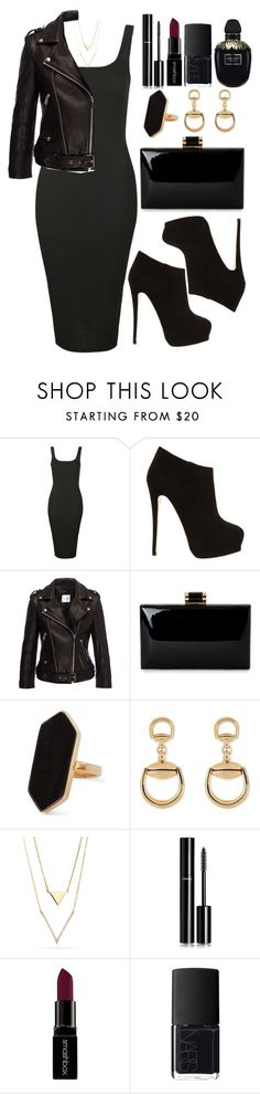 """""""Untitled #4046"""" by natalyasidunova ❤ liked on Polyvore featuring Topshop, Giuseppe Zanotti, Anine Bing, Jaeger, Gucci, Chanel, Smashbox, NARS Cosmetics and Alexander McQueen"""