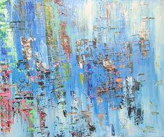 """""""Iceworld"""" 120x100x2 cm acryl on canvas"""
