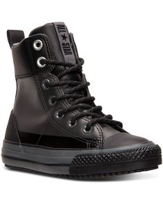Converse Boys' Chuck Taylor Asphalt Boots from Finish Line - Gray 6 Mode Converse, Converse Boots, Mens Boots Fashion, Fashion Shoes, Men's Fashion, Boys Shoes, Me Too Shoes, Puma Boots, Dr. Martens