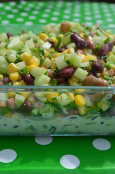 Szybka sałatka z fasolą Appetizer Salads, Appetizers, Fruit Salad, Potato Salad, Potatoes, Baking, Vegetables, Ethnic Recipes, Food