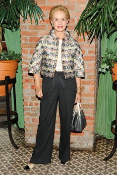 Dia a dia Carolina Herrera at the CFDA Fashion Awards nominee announcement party in New York. Fashion Line, Fashion Over 50, Love Fashion, Fashion Looks, Womens Fashion, Lady Like, Girly Girl, Mature Fashion, Advanced Style