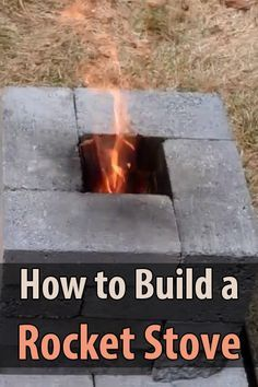 I found a great video on how to build a rocket stove using only 16 bricks. I had heard about this method but had never tried it.