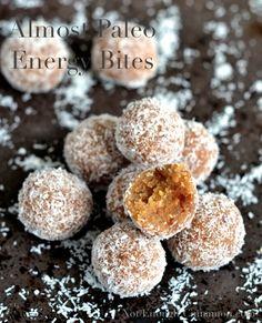 Almost Paleo Energy Bites {grain-free, gluten-free, dairy-free, sugar-free} - NotEnoughCinnamon.com