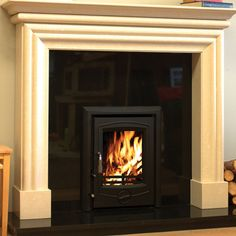 The Henley Achill 6.6kw Defra Multifuel Wood Burning Inset Stove