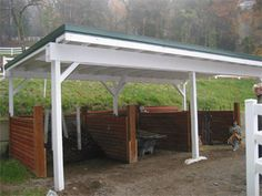 A covered shed with compost piles from Pierce Conservation District, look at pdf