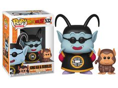 From the anime and manga series, Dragon Ball Z, comes this Dragon Ball Z King Kai and Bubbles Pop! Vinyl Figure This figure measures about 3 tall and comes packaged in a window display box. Funko Pop Dolls, Figurines Funko Pop, Funko Toys, Pop Figures, Vinyl Figures, Action Figures, Dragon Ball Z, Kai, Dbz Toys