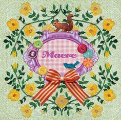 Geboortekaartje Maeve - vrolijke retro vintage collage - www.petitkonijn.nl