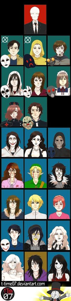 Creepypasta fandom Crew by T-Time07.deviantart.com on @DeviantArt