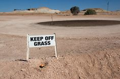 Aussie humour... just about as dry as this golf course! #australia #golf