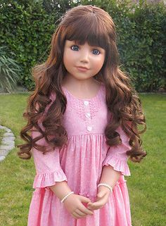 """NWT Masterpiece Dolls Crystal Brunette With Blue Eyes By Monika Peter-Leicht 46"""""""