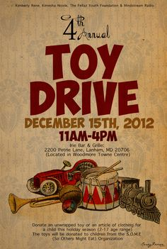 1000 images about toy drive on pinterest drive poster toys and brooklyn. Black Bedroom Furniture Sets. Home Design Ideas