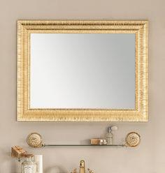#Eban #specchio Anastasia | #Vetro e #legno | su #casaebagno.it | #composiozioni #mobili #bagno #arredamento #design