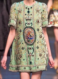 monsieurwintour: chiffonandribbons: Dolce & Gabbana F/W 2013 Baroque to a new level