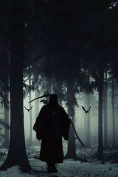 You are out walking when a dark hooded figure blocks your path. The air around you becomes still and quiet and you have stopped moving. Somehow in your marrow you know the figure is Death. What will you say? Or what will you do?