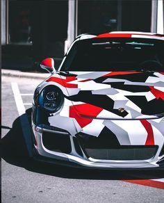 Porsche GT3 geometric came wrap