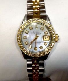 Ladies Rolex Datejust 18k and stainless steel diamond bezel and dial Watch - http://menswomenswatches.com/ladies-rolex-datejust-18k-and-stainless-steel-diamond-bezel-and-dial-watch/ COMMENT.