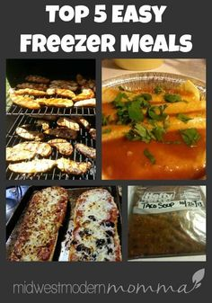 Easy Freezer Meals | Top 5 Must Have Freezer Meals Freezer Friendly Meals, Budget Freezer Meals, Healthy Freezer Meals, Healthy Eating Habits, Freezer Cooking, Frugal Meals, Nutritious Meals, Quick Meals, Budget Recipes